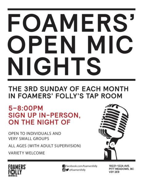 Open Mic Night @ Foamers' Folly Brewing Co.