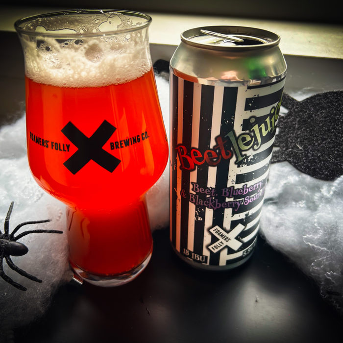 Beetlejuice Sour Ale with Beets, Blueberries, and Blackberries – Now Available!